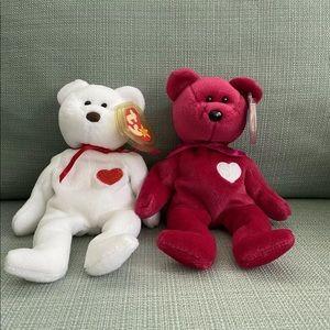 Ty Beanie Baby Bean Babies Bears Valentines